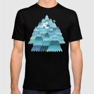 Tree Hugger Mens Fitted Tee Black SMALL