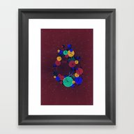 Data Heart Framed Art Print