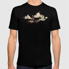 Steam FLY Mens Fitted Tee SMALL Black