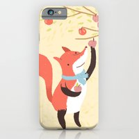 iPhone & iPod Case featuring Fox apple picking by Penguin & Fish