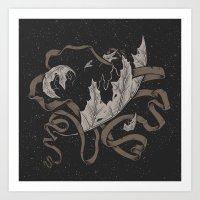 Night Falling  Art Print
