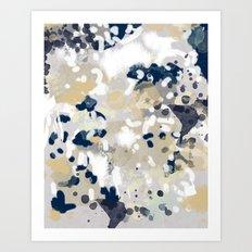 Nigel - Abstract art painting brushstrokes free spirt dorm college masculine feminine art print cali Art Print