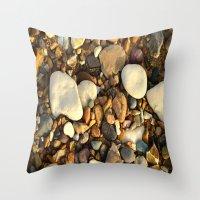 Beach Pebbles Throw Pillow