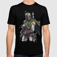 Boba Fett Mens Fitted Tee Black SMALL