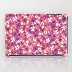 Retro Pink Flowers iPad Case