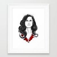 Alana Bloom - Hannibal Tryptch Framed Art Print