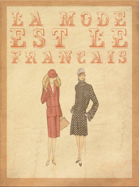 French Fashion Canvas Print