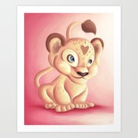 Lena Lioness Art Print