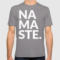 Namaste Mens Fitted Tee Tri-Grey SMALL