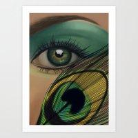 Through The Eye Of A Pea… Art Print