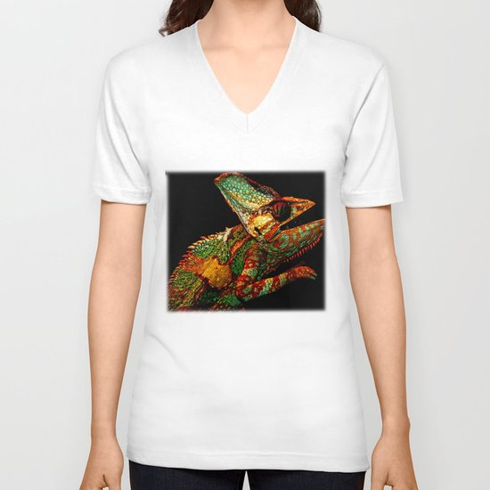 KARMA CHAMELEON V-neck T-shirt