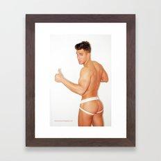 American boy Framed Art Print