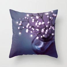 BABY'S BREATH | LITTLE LIGHTSPOTS Throw Pillow