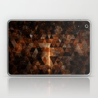 Gold Beam In Geometric S… Laptop & iPad Skin