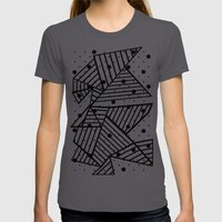 Abstract Spots Close Up Womens Fitted Tee Asphalt SMALL