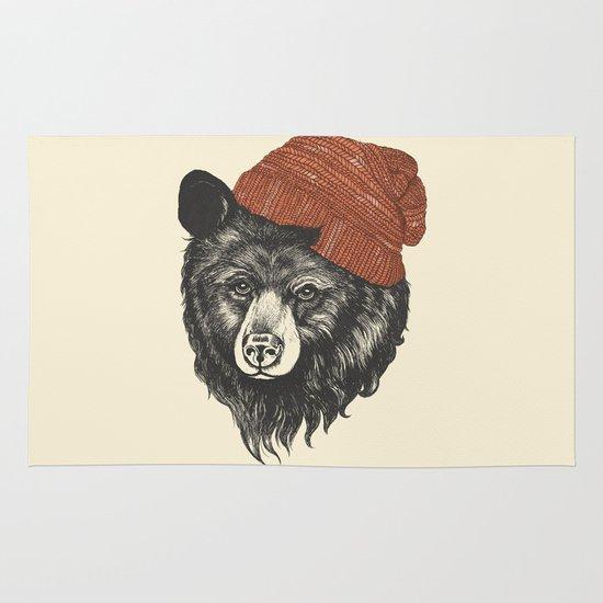 zissou the bear Area & Throw Rug
