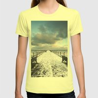 Saltburn By The Sea Womens Fitted Tee Lemon SMALL