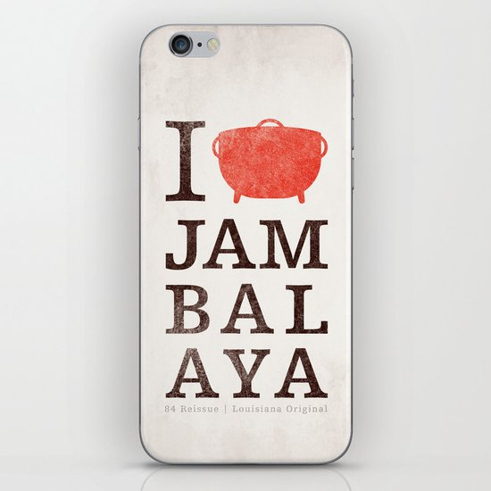 I Heart Jambalaya iPhone & iPod Skin