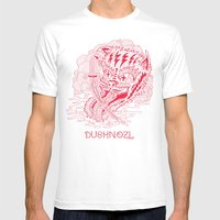 DUSHNOZLE DEADCAT Mens Fitted Tee White SMALL