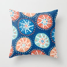 Flower Puffs Throw Pillow
