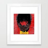 Ride / title Framed Art Print