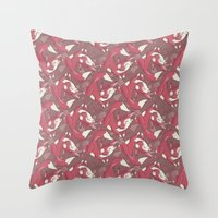 The quick brown fox jumps over… Throw Pillow
