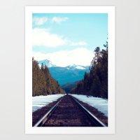 Train To Mountains Art Print
