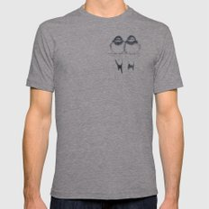 birds Mens Fitted Tee Athletic Grey SMALL