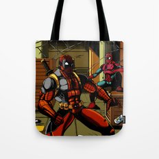The Amazing Spider-Pool Tote Bag