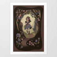 Following Flowers Art Print