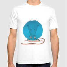 mouseusus SMALL White Mens Fitted Tee