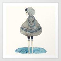 poncho Art Print