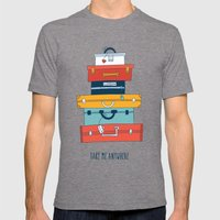 Take me anywhere Mens Fitted Tee Tri-Grey SMALL