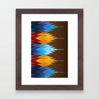 Navajo Fire & Ice Framed Art Print