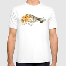 A Self Containing Food Chain SMALL White Mens Fitted Tee