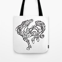Horse Swirls Tote Bag