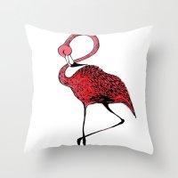 Mr. Flamingo Throw Pillow