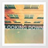 Looking Down Art Print