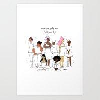 Anxious Ladies Art Print