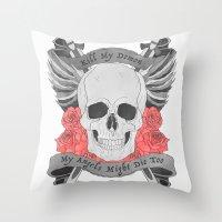 Kill my Demon Throw Pillow