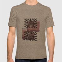 RETRO7 Mens Fitted Tee Tri-Coffee SMALL