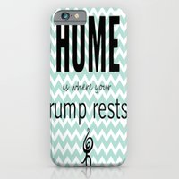 iPhone & iPod Case featuring Home is where your rump rests by Amy Copp