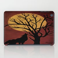 Full Moon/red iPad Case