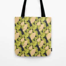 Trailing Hair and Fan // Fall Colourway Tote Bag