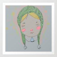Sadgurl 7 Art Print