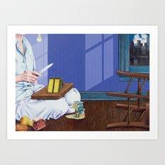 domestic scene Art Print
