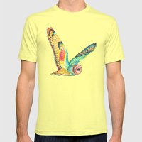 Owl Mens Fitted Tee Lemon SMALL