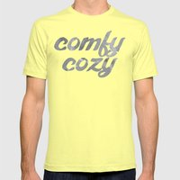 comfy cozy Mens Fitted Tee Lemon SMALL