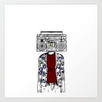 Radio Daze Art Print