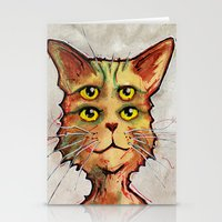 Four Eyed Cat Stationery Cards